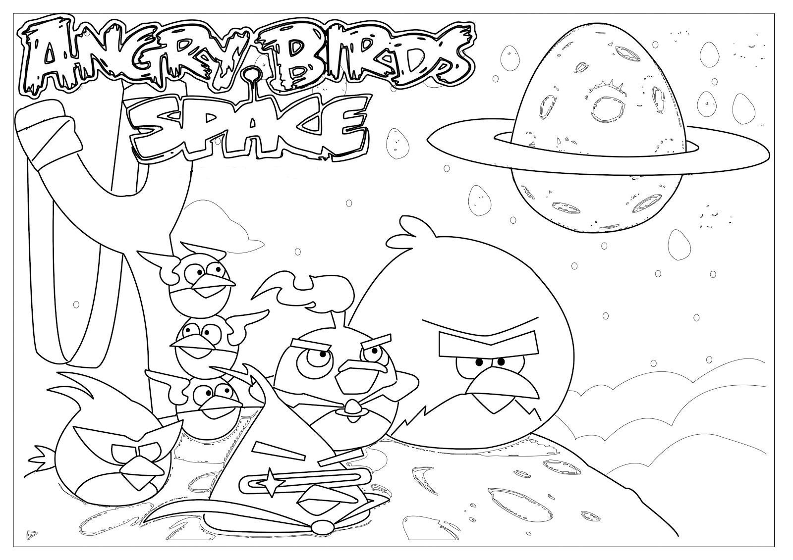 Unique Angry Birds Space Coloring Pages 60 In For Kids Within