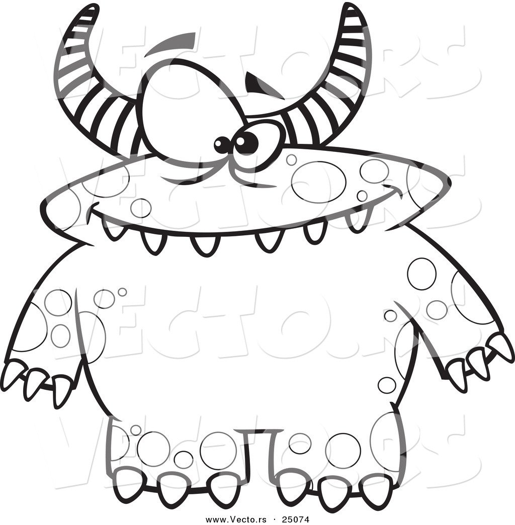 Unique Monster Coloring Page 87 With Additional Download Coloring