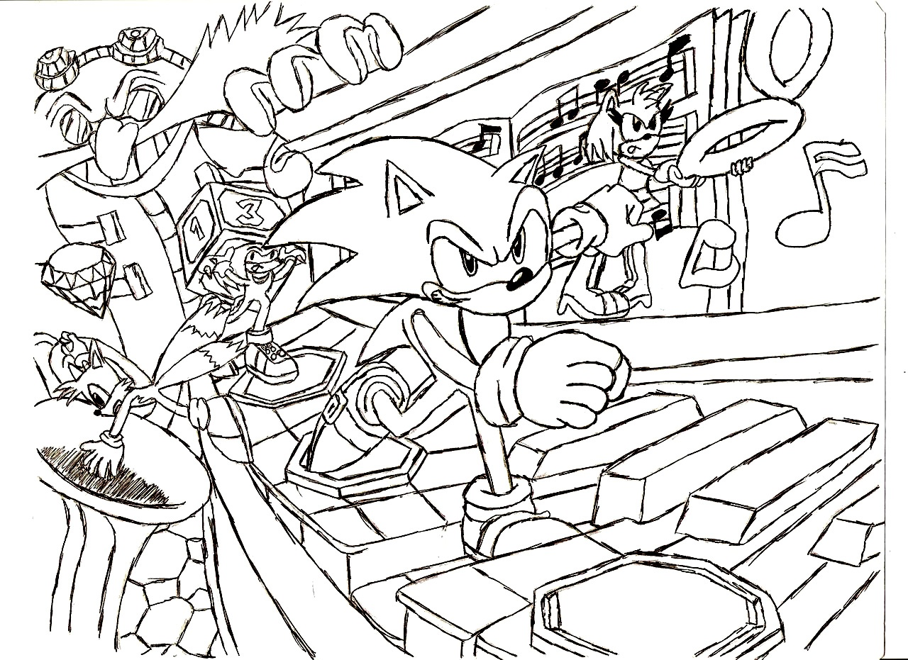 Lovely Sonic Coloring Page 76 On Coloring Pages For Kids Online