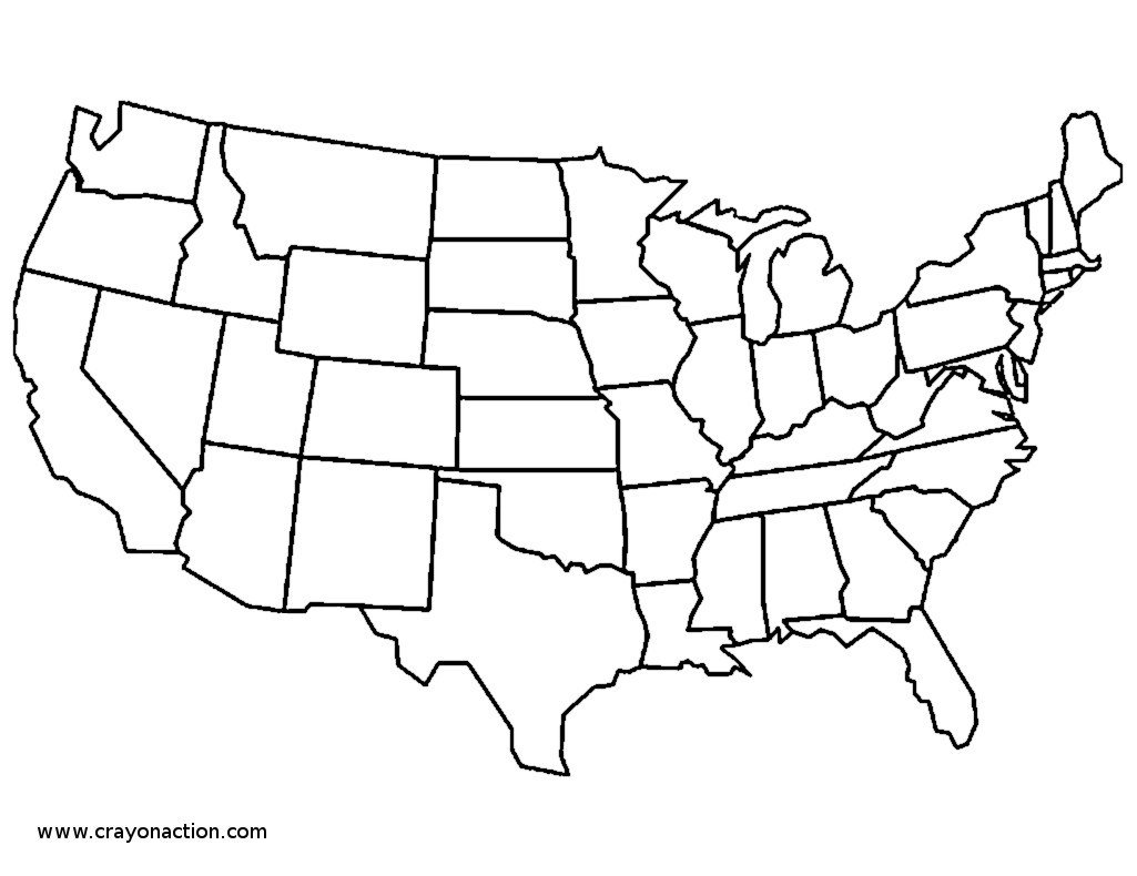 United States Coloring Page Map Archives Within Usa Map Coloring
