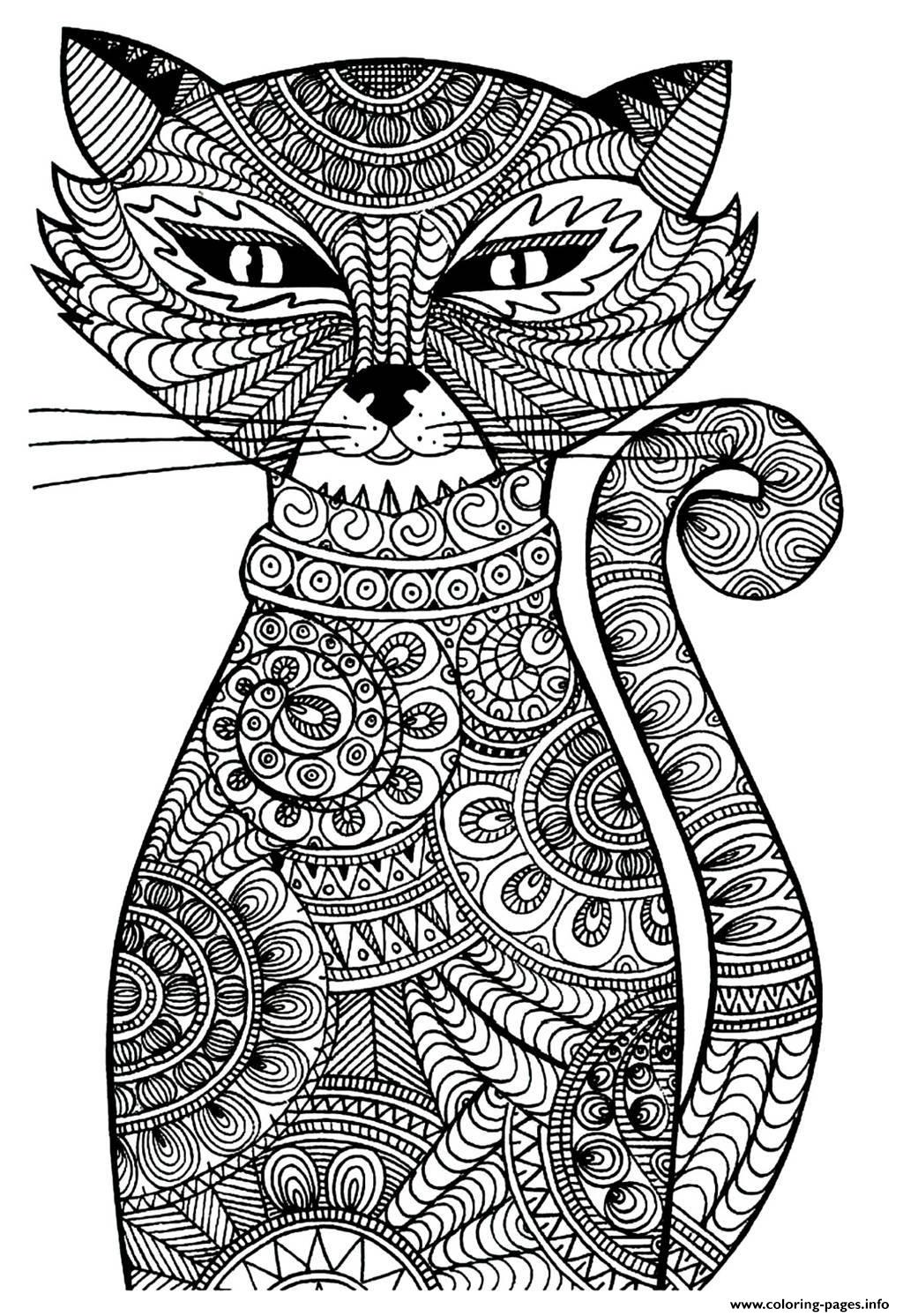 Very Attractive Design Cat Coloring Pages