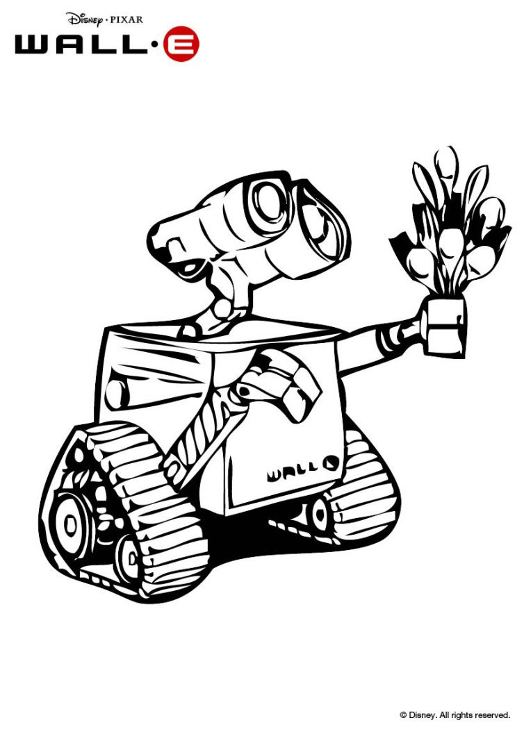 Wall E Coloring Pages Within
