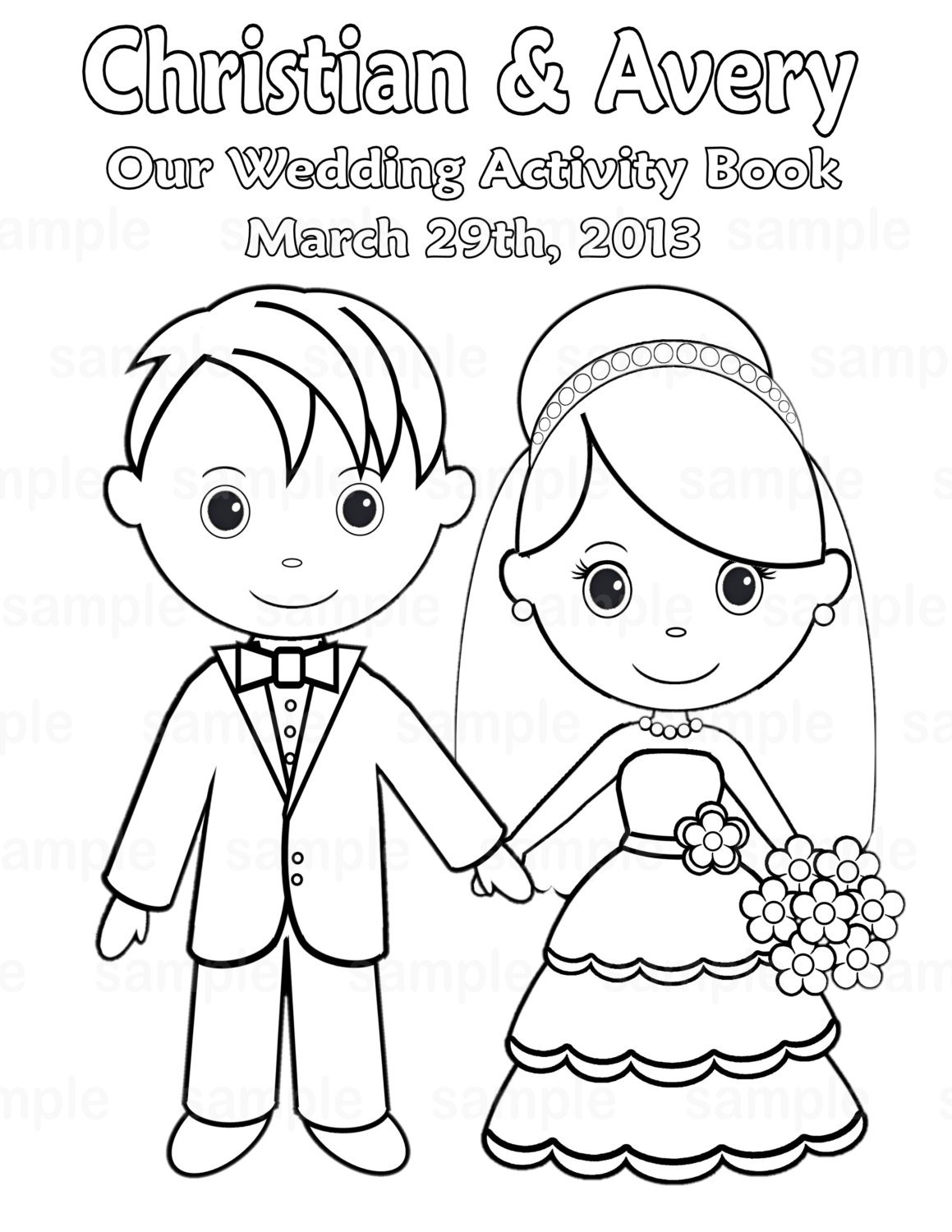Wedding Coloring Book Pages With Free