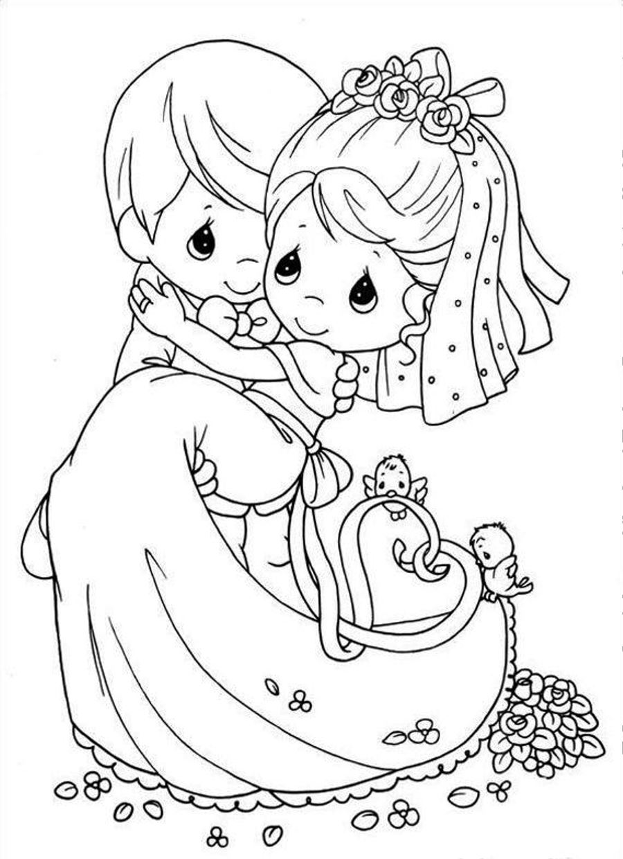 Wedding Coloring Pages For Kids Archives With Free