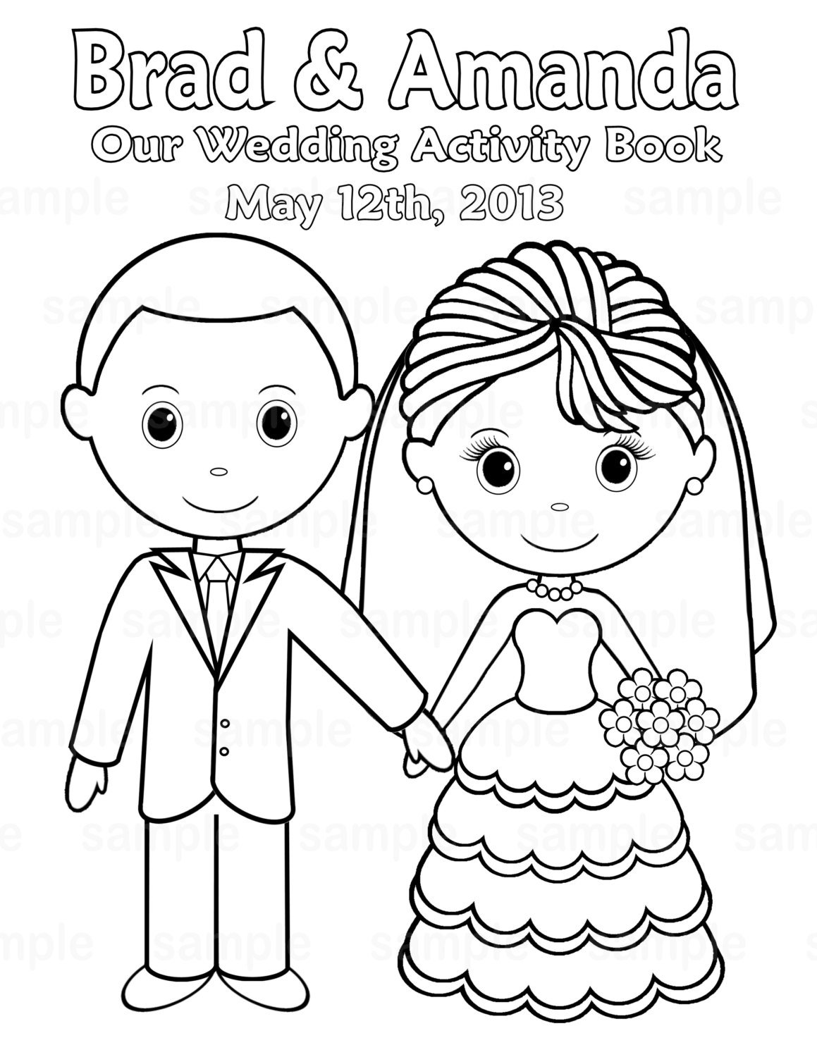 Wedding Coloring Pages Free Glum Me With
