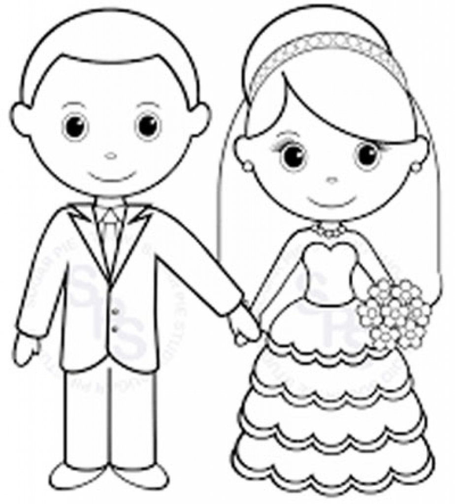 Wedding Coloring Pages Glum Me Within Free