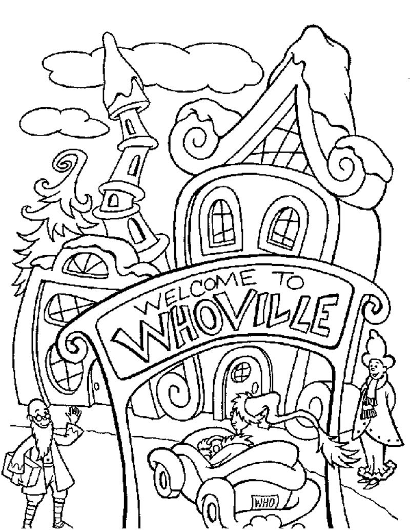 How The Grinch Stole Christmas Coloring Pages