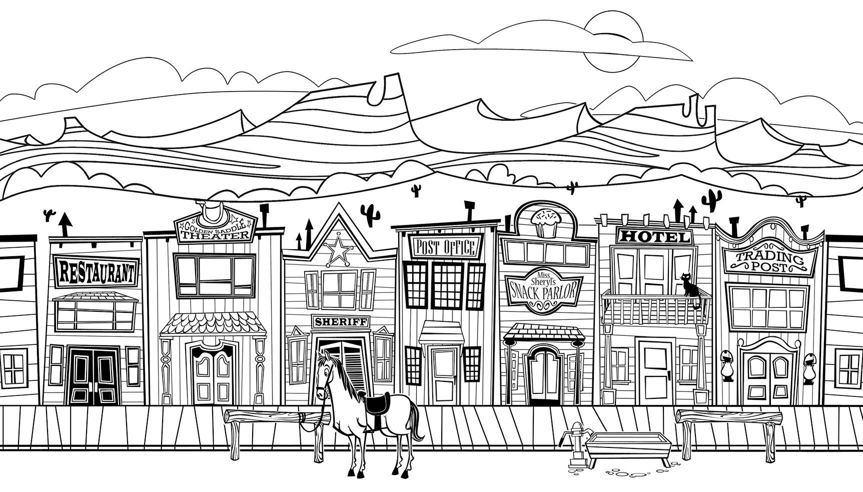 Wild West Coloring Pages 22665,