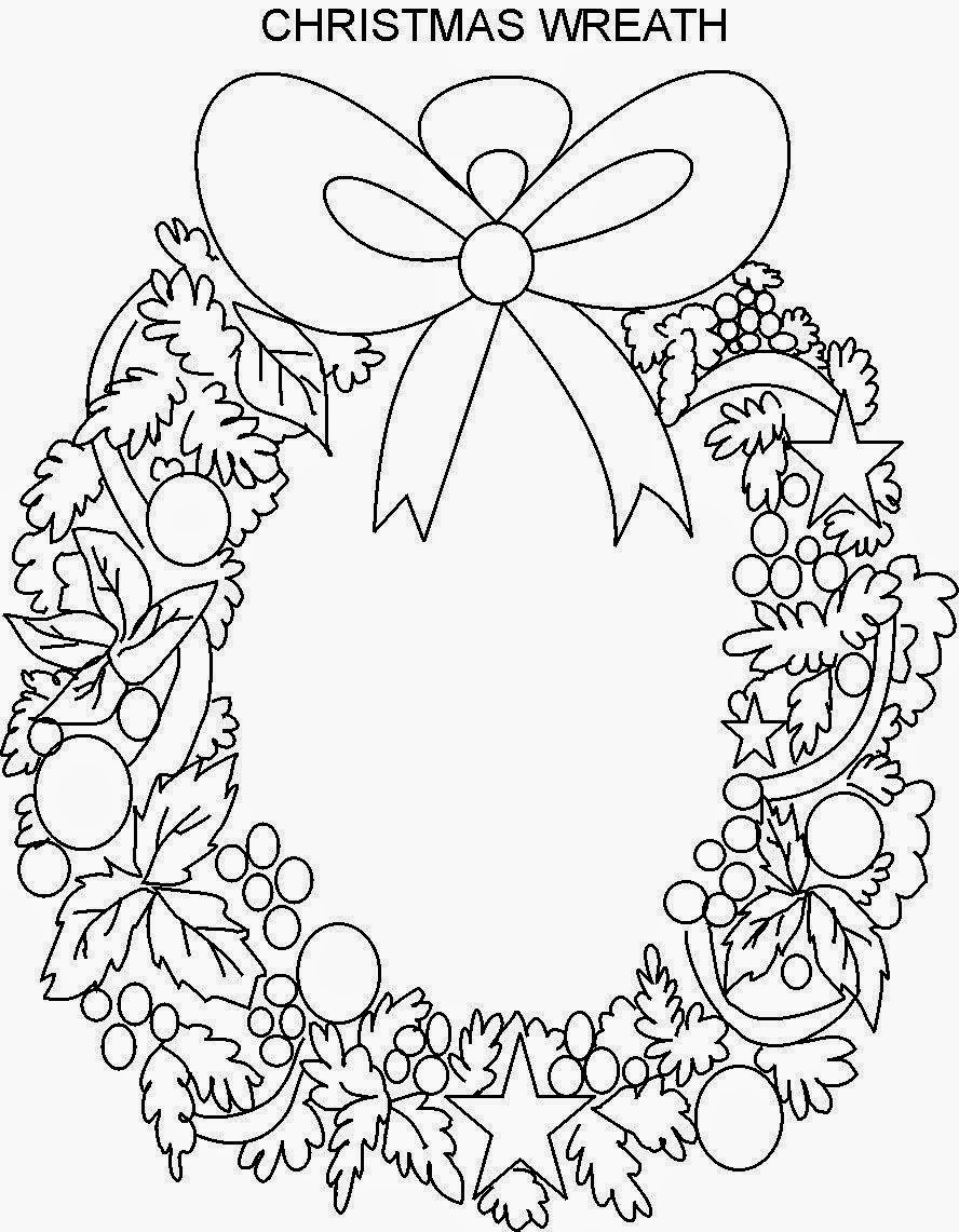 Wreath Coloring Pages Archives In Christmas Wreath Coloring Pages