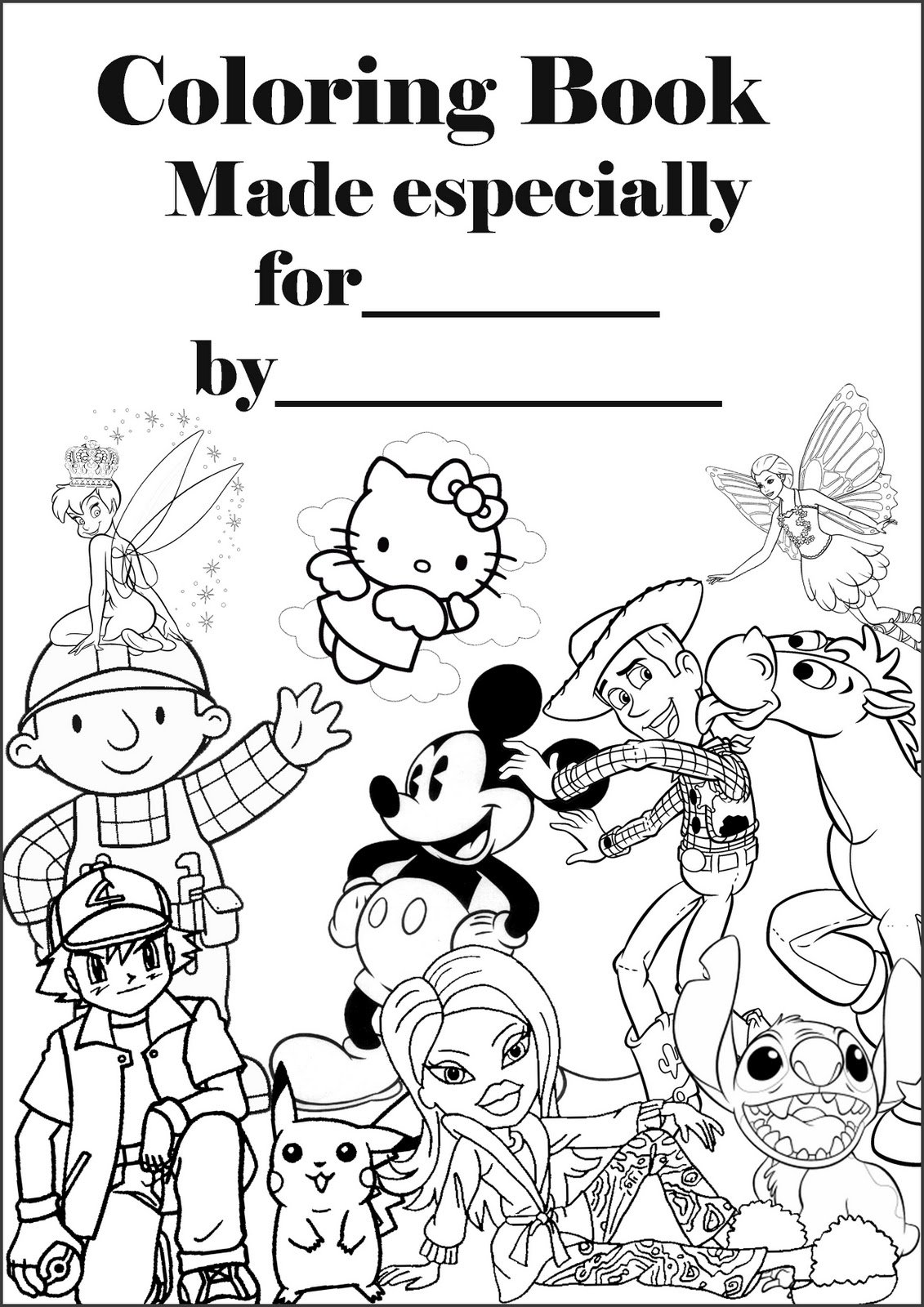 Make Your Own Coloring Book  Print This 'cover' And A Dozen Or So