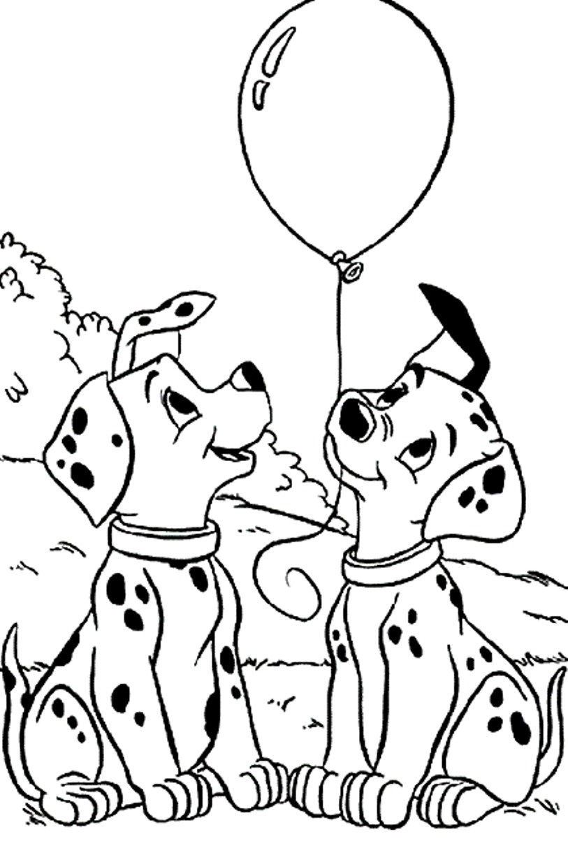 101 Dalmatians Coloring Pages Zimeon Me For