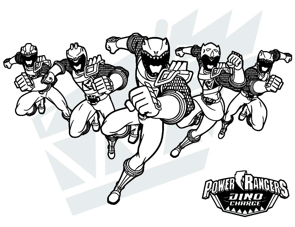 Coloring Pages Power Rangers Dino Charge
