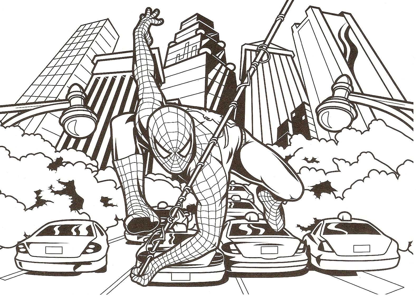 Spider Man Coloring Pages Games