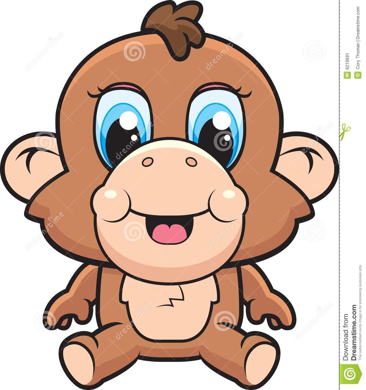 Cute Cartoon Monkey Love