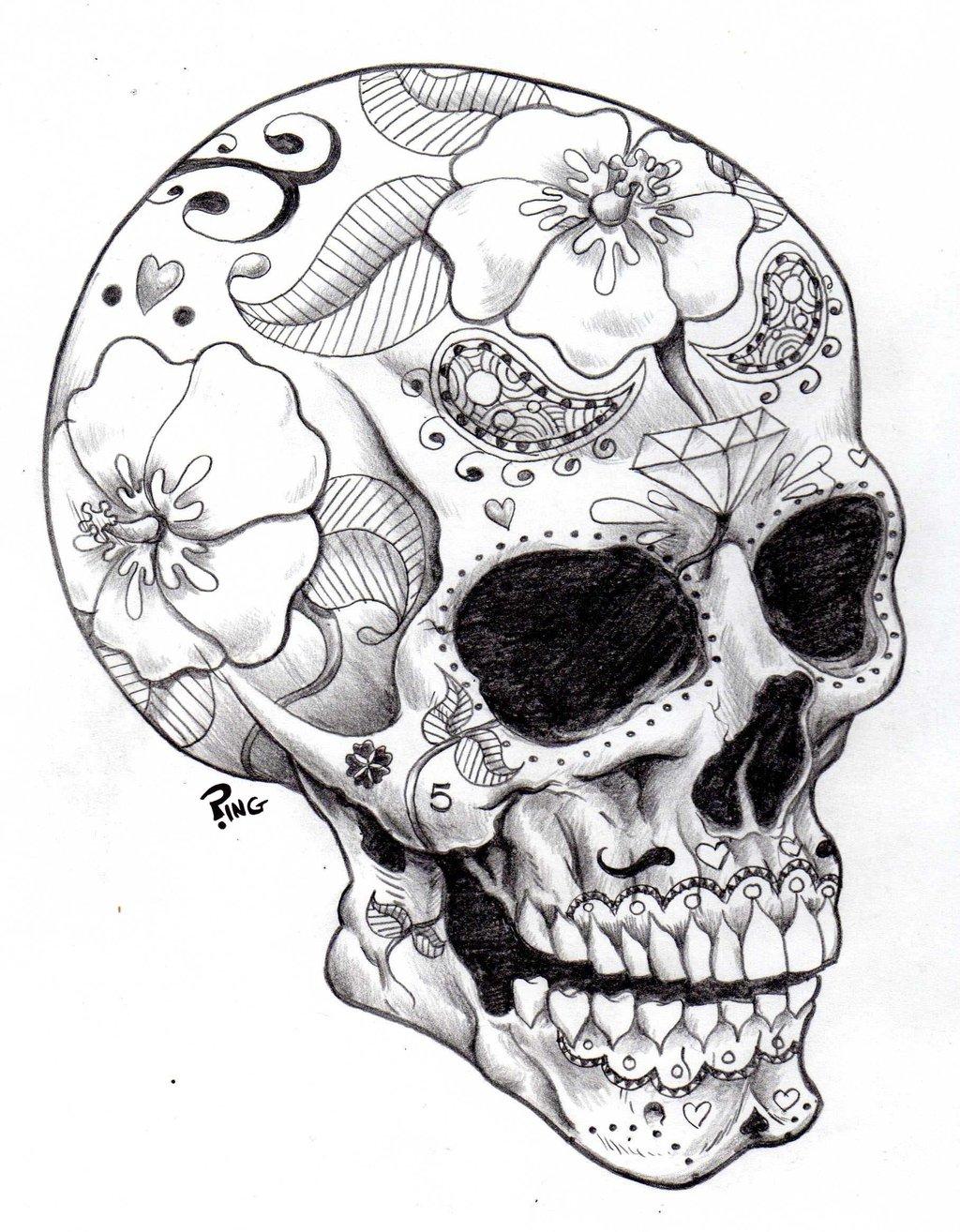 Sugar Skulls Coloring Pages