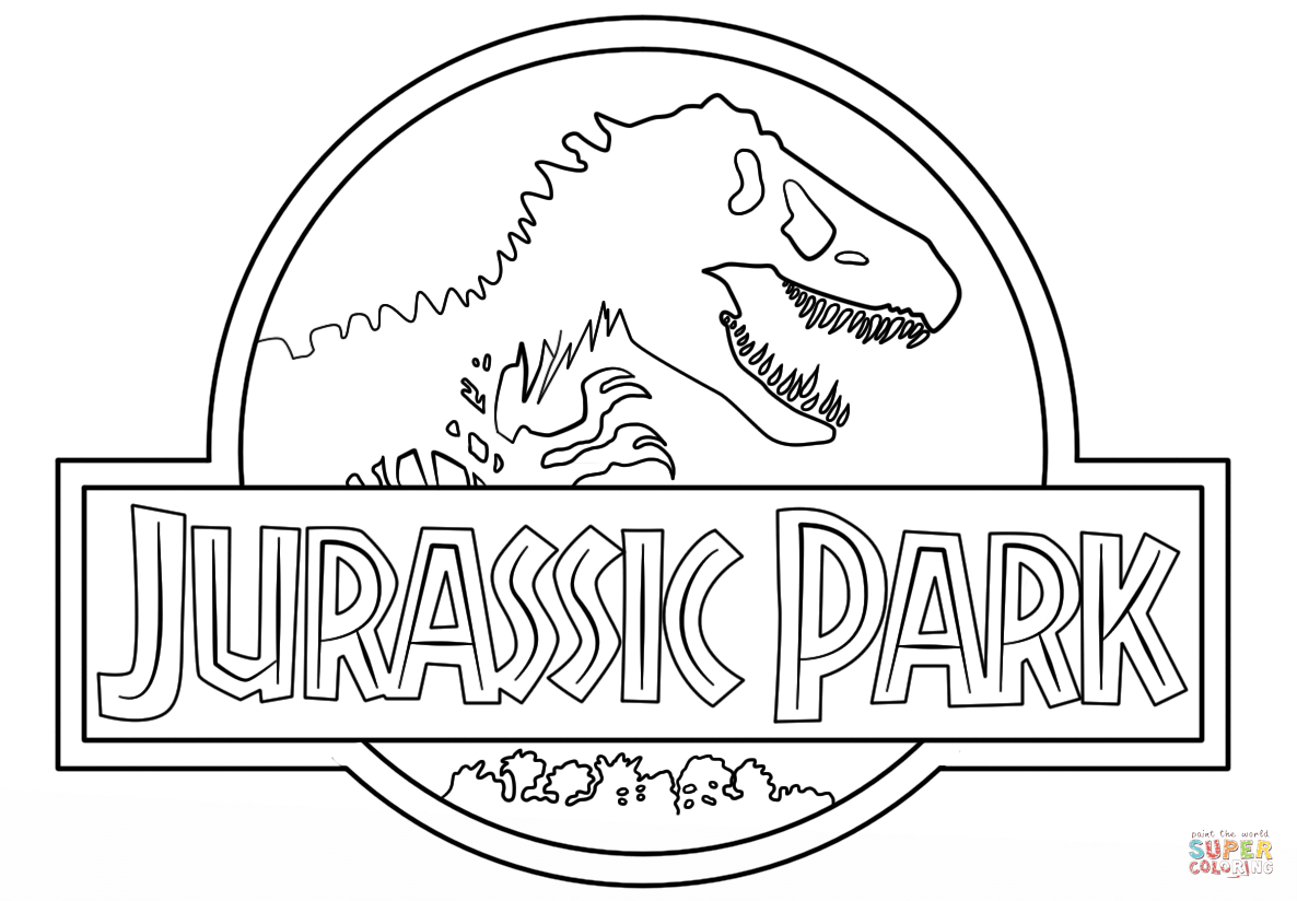 Jurassic Park Logo Coloring Page