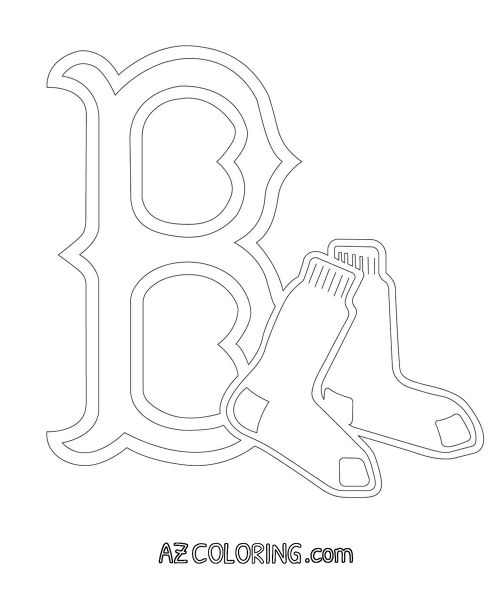 Boston Red Sox Coloring Page