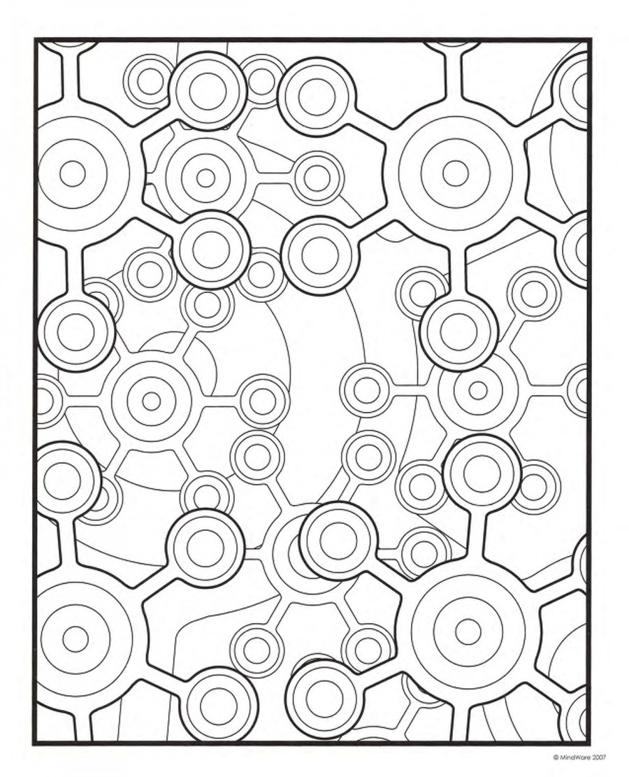 Geometric Coloring Pages, Printable Geometric Coloring Pages, Free