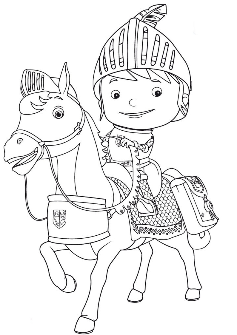 Mike The Knight Coloring Pages