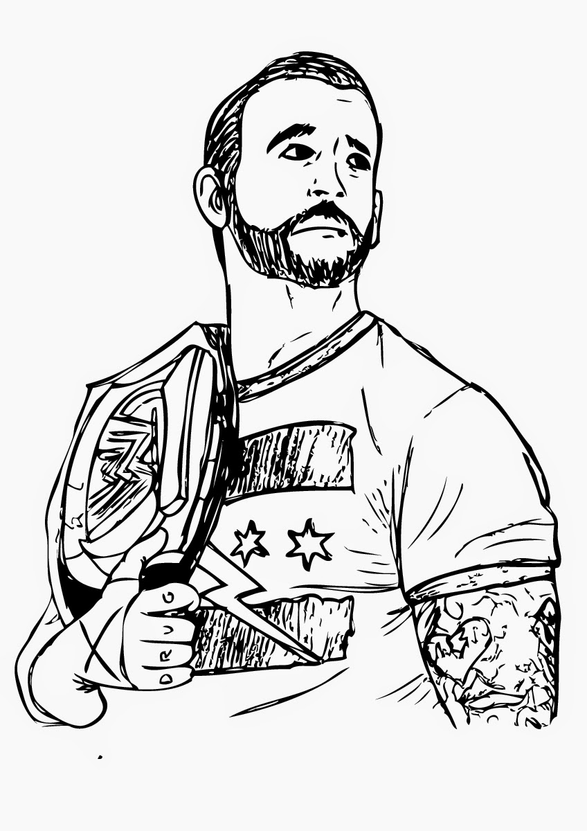 Printable Wwe Coloring Pages For Adults