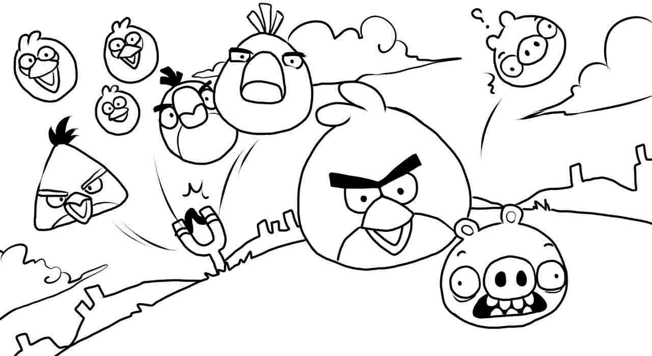 Adult Angry Birds Coloring Pages Free Sheets And Angry Birds