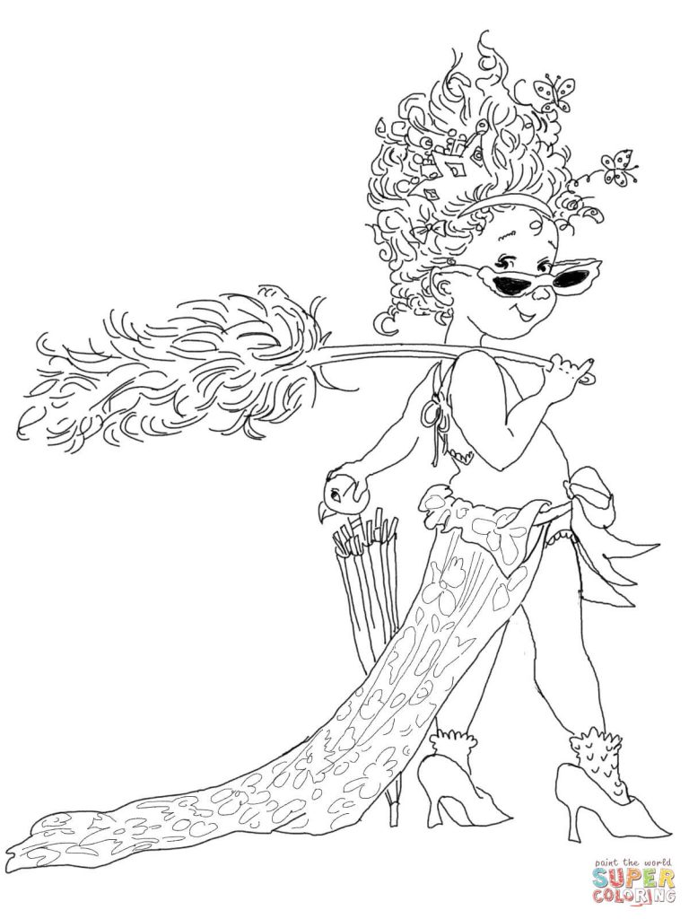 Fancy Nancy Coloring Pages  20405
