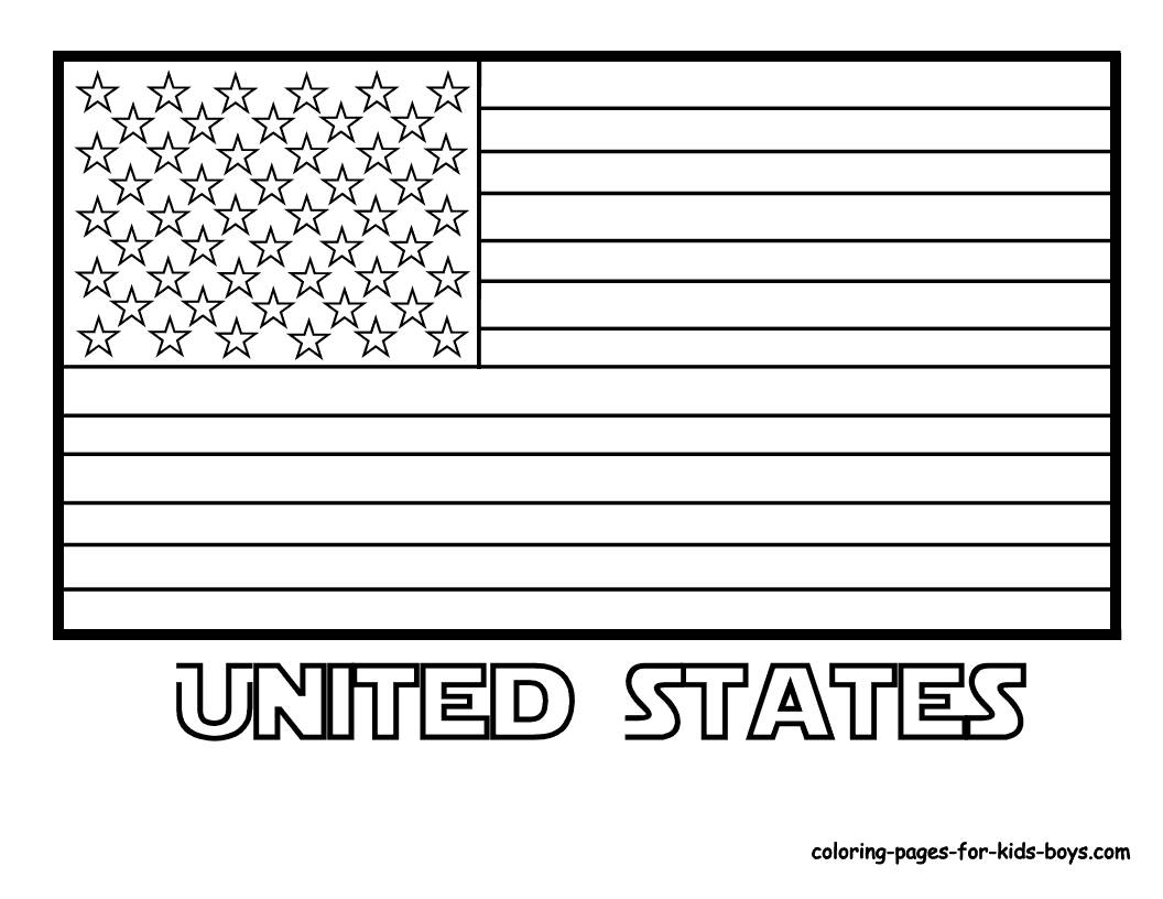 American Flag Coloring Pages 2017 In Flag Coloring Page