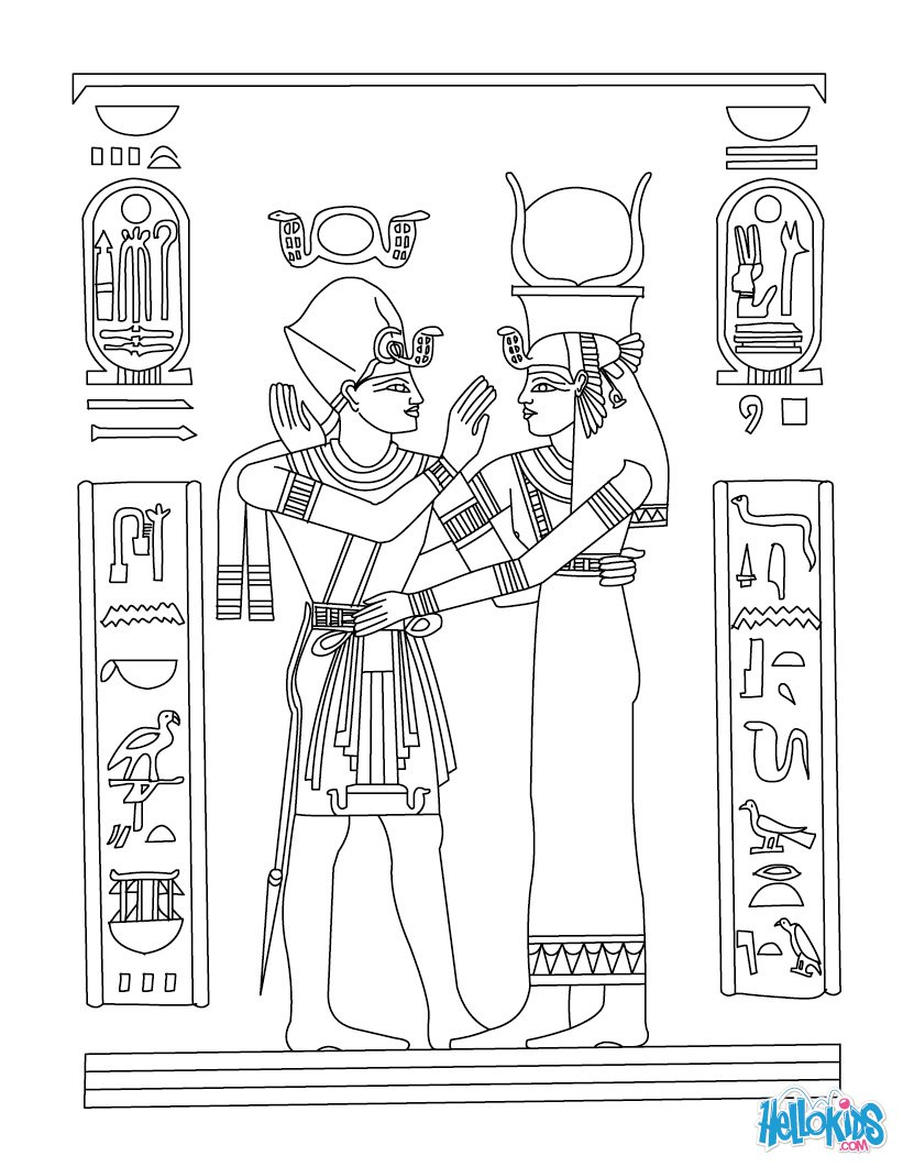 Ancient Egypt Coloring Pages Funycoloring In