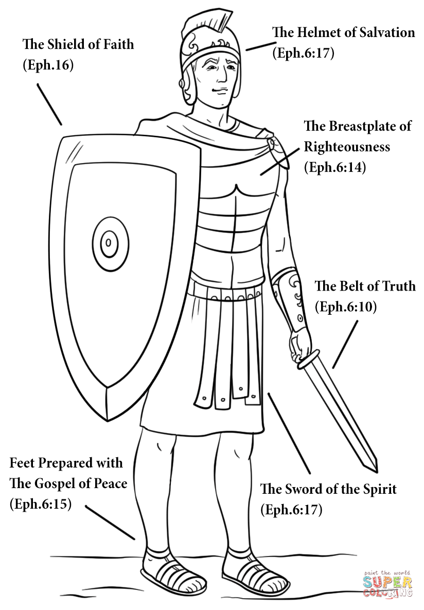 Armour Of God Coloring Page