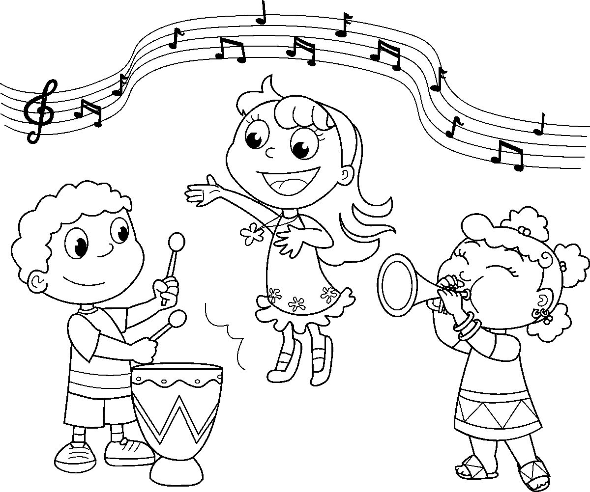 Music Coloring Pages For Kids Printable Best Of Musical Within