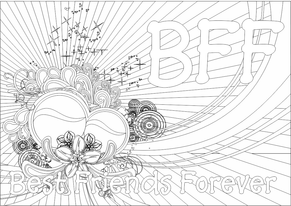 Awesome Bff Coloring Pages 34 With Additional Seasonal Colouring