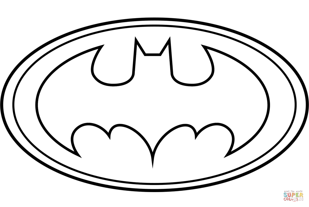 Batman Logo Coloring Page And Coloring Pages Of