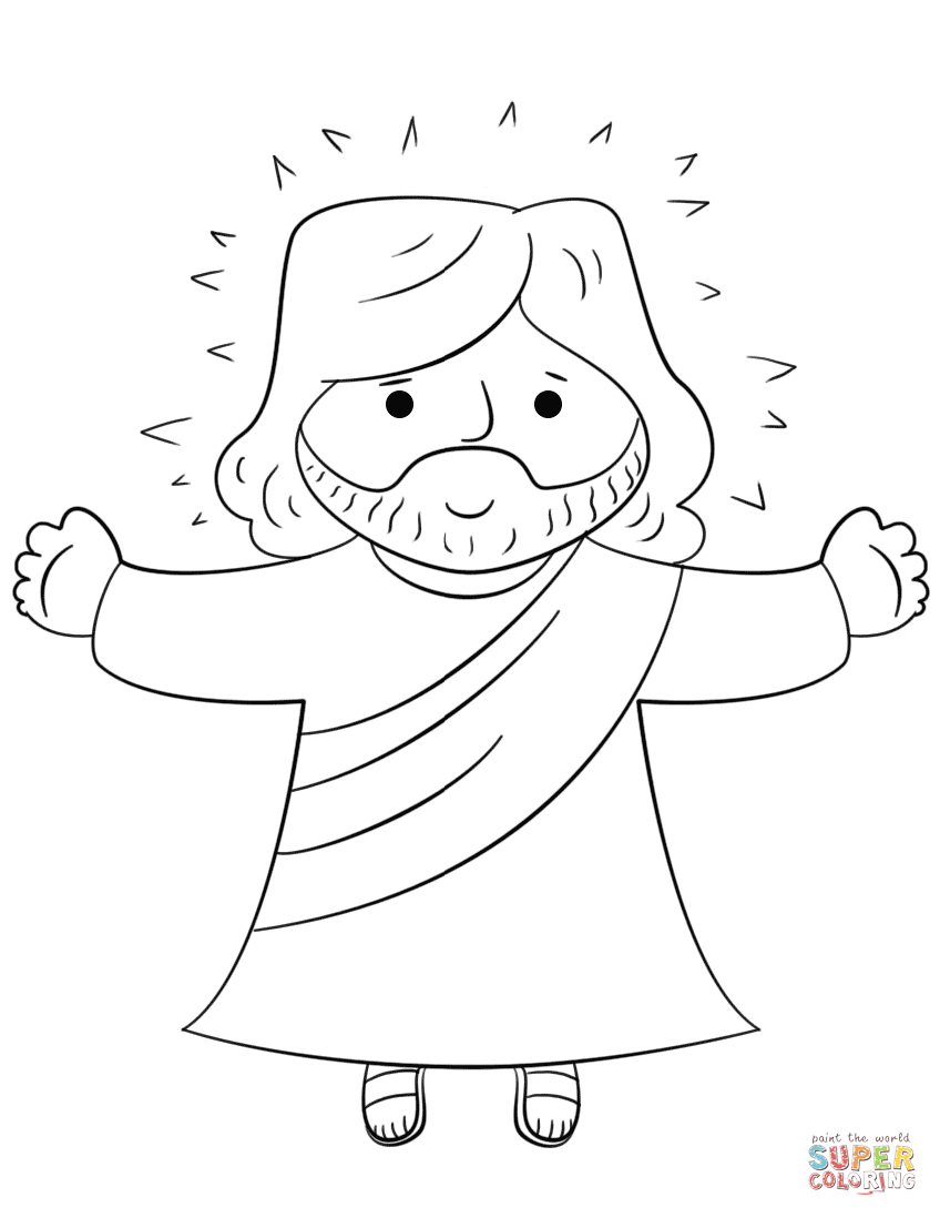 Beautiful Jesus Coloring Page 90 For Your Coloring For Kids With