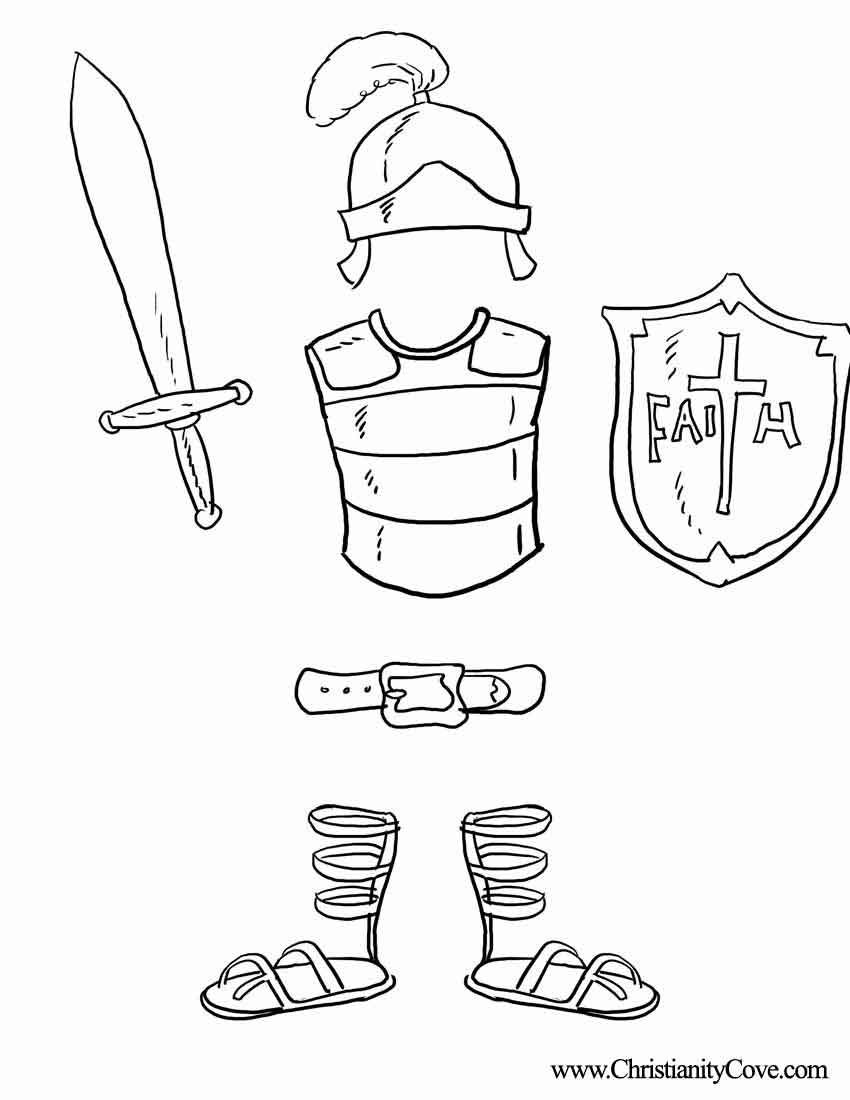 Best Armor Of God Coloring Pages 83 About Remodel Free Coloring