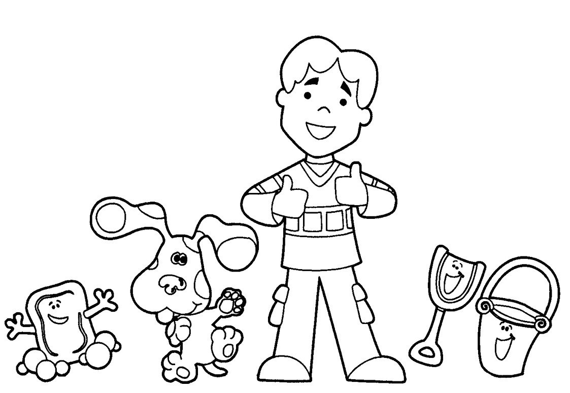 Best Blues Clues Coloring Pages 54 About Remodel Line Drawings