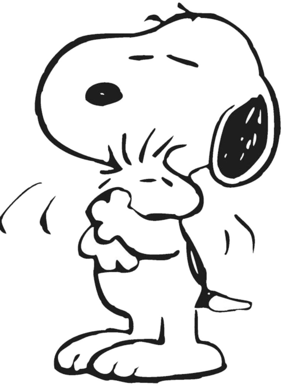 Best Snoopy Coloring Pages 96 In Free Colouring Pages With Snoopy