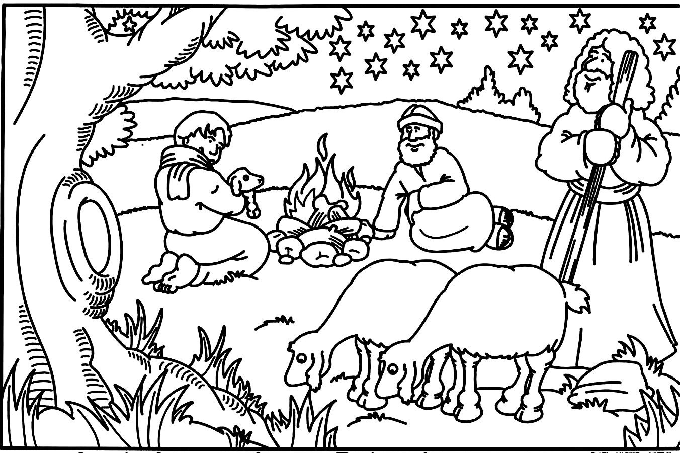 Story Coloring Pages For Kids