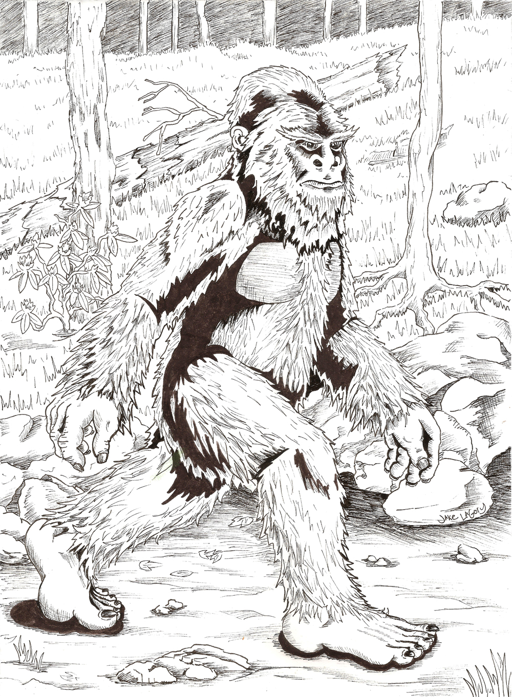 Bigfoot Coloring Pages In