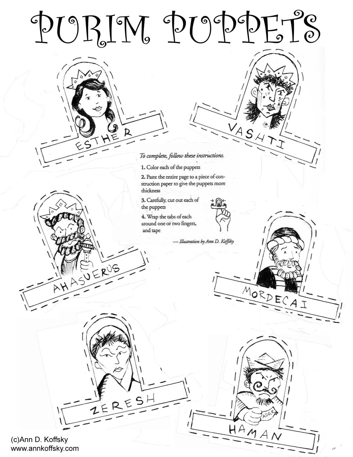New Purim Coloring Page