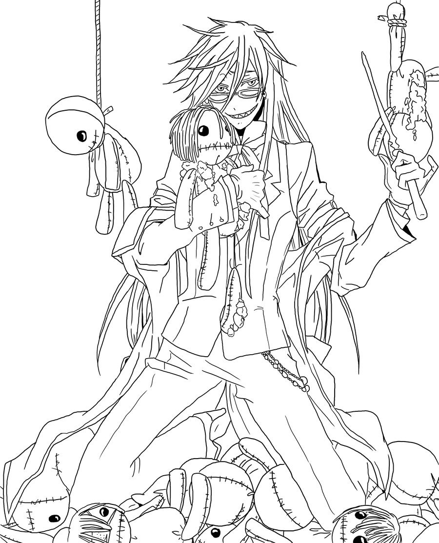Black Butler Coloring Pages 28 Images In