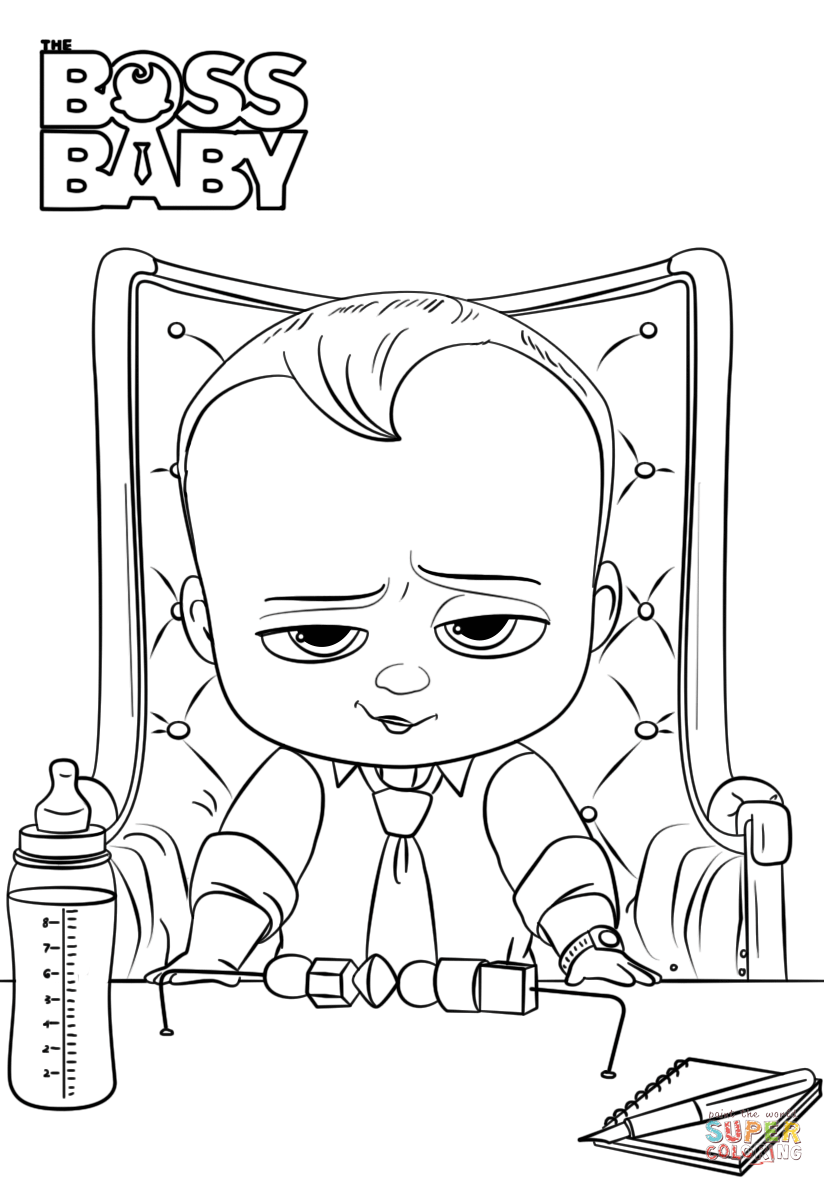 Boss Baby Coloring Page