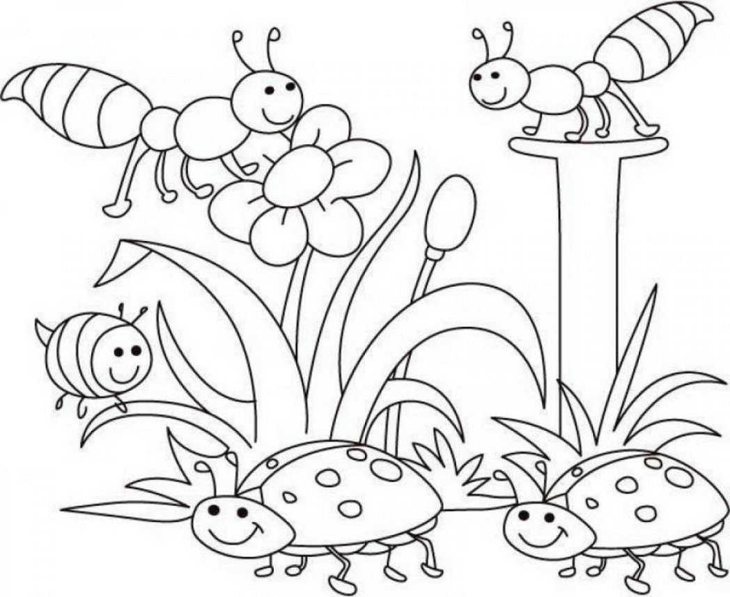 Bug Coloring Pages For Preschool Creativemove Me Within Page Bugs