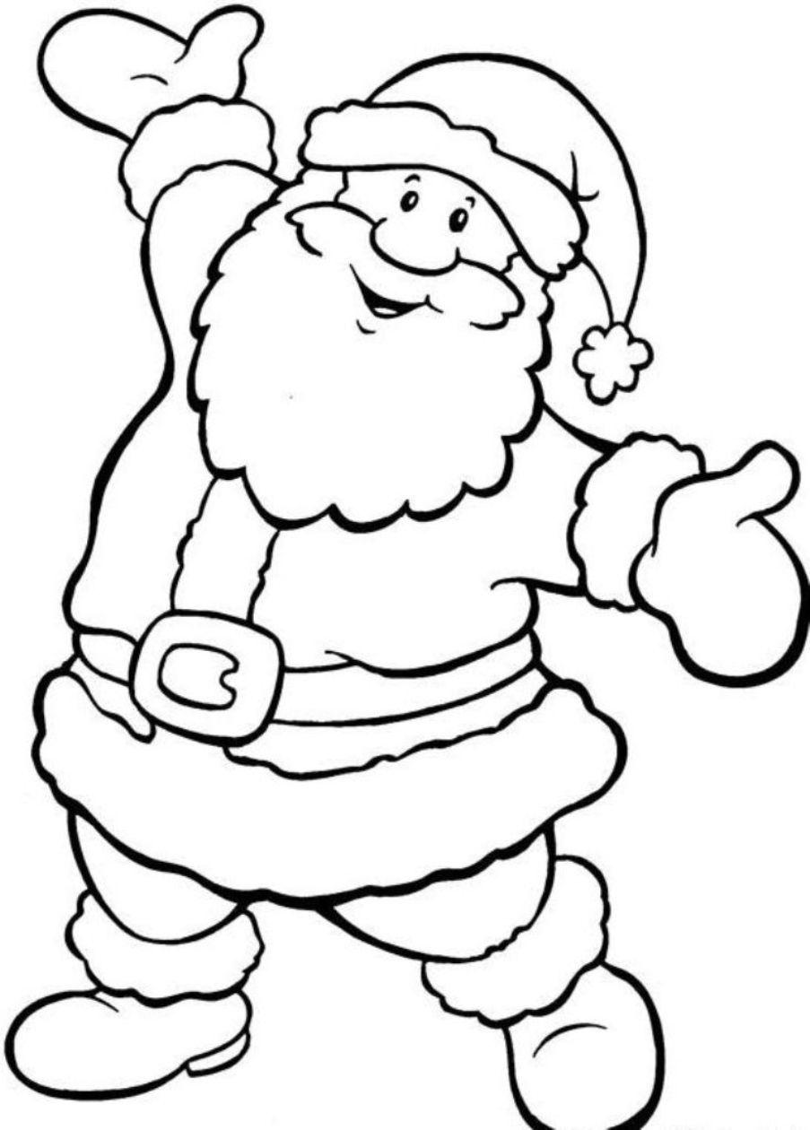 Christmas Santa Coloring Pages Page For Kids And