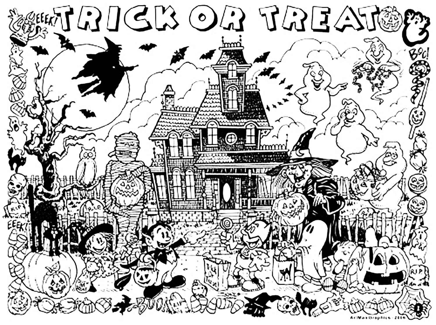 Halloween Haunted House Trick Or Treat