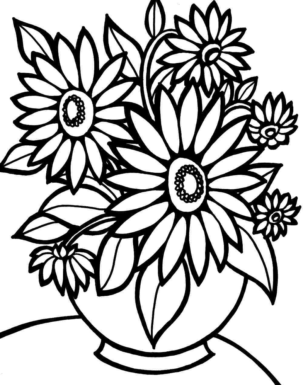 Coloring Pages Flowers Printable Www Mindsandvines Com Inside