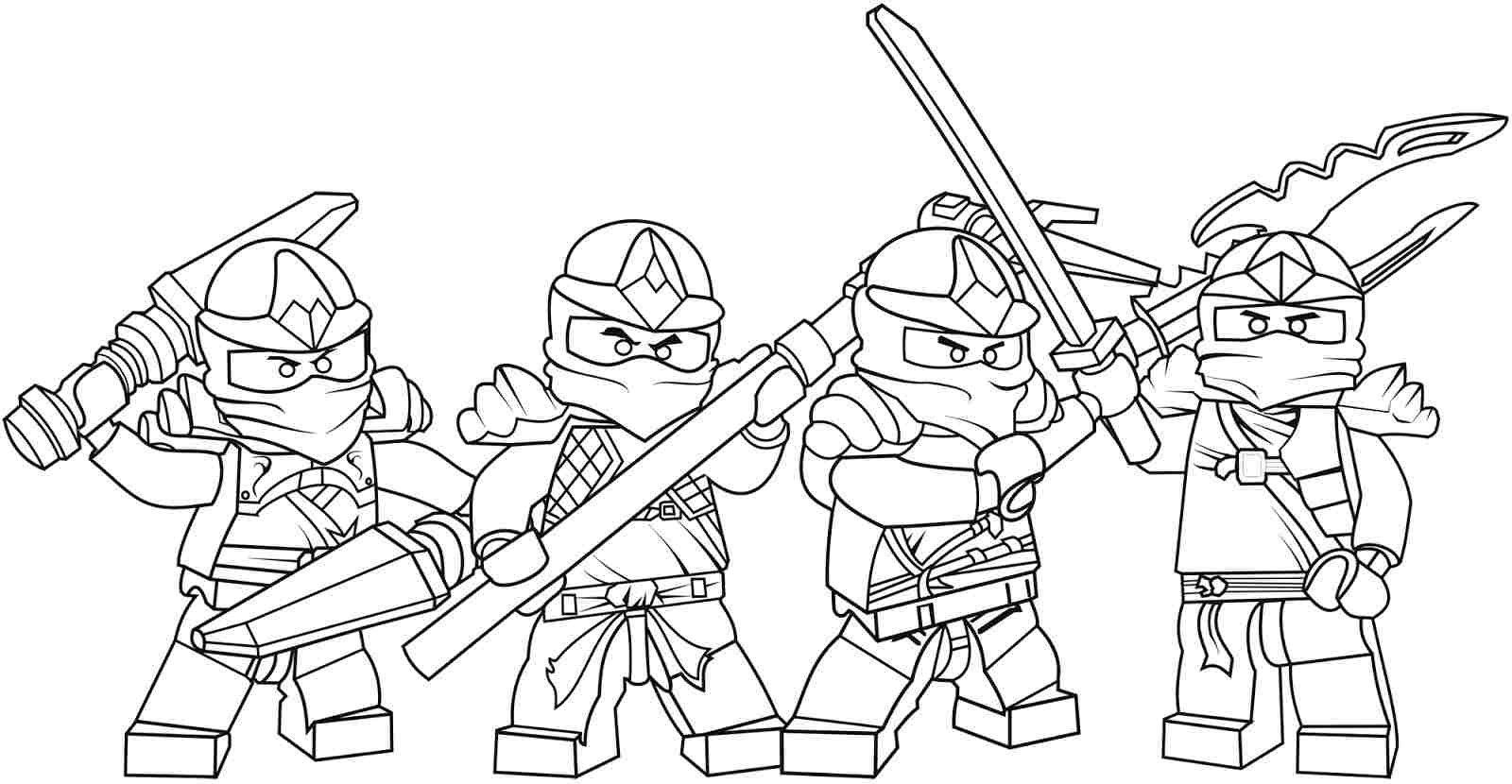 Coloring Pages For Boys Lego Ninjago Printable