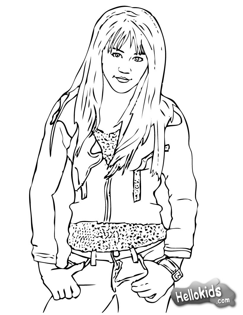 Cool Miley Cyrus   Hannah Montana Coloring Pages
