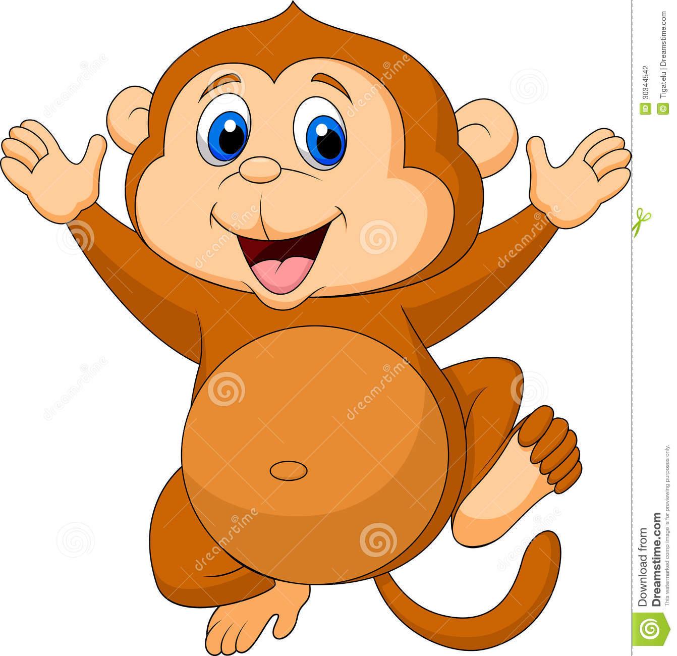 Cute Monkey Cartoon Stock Photography