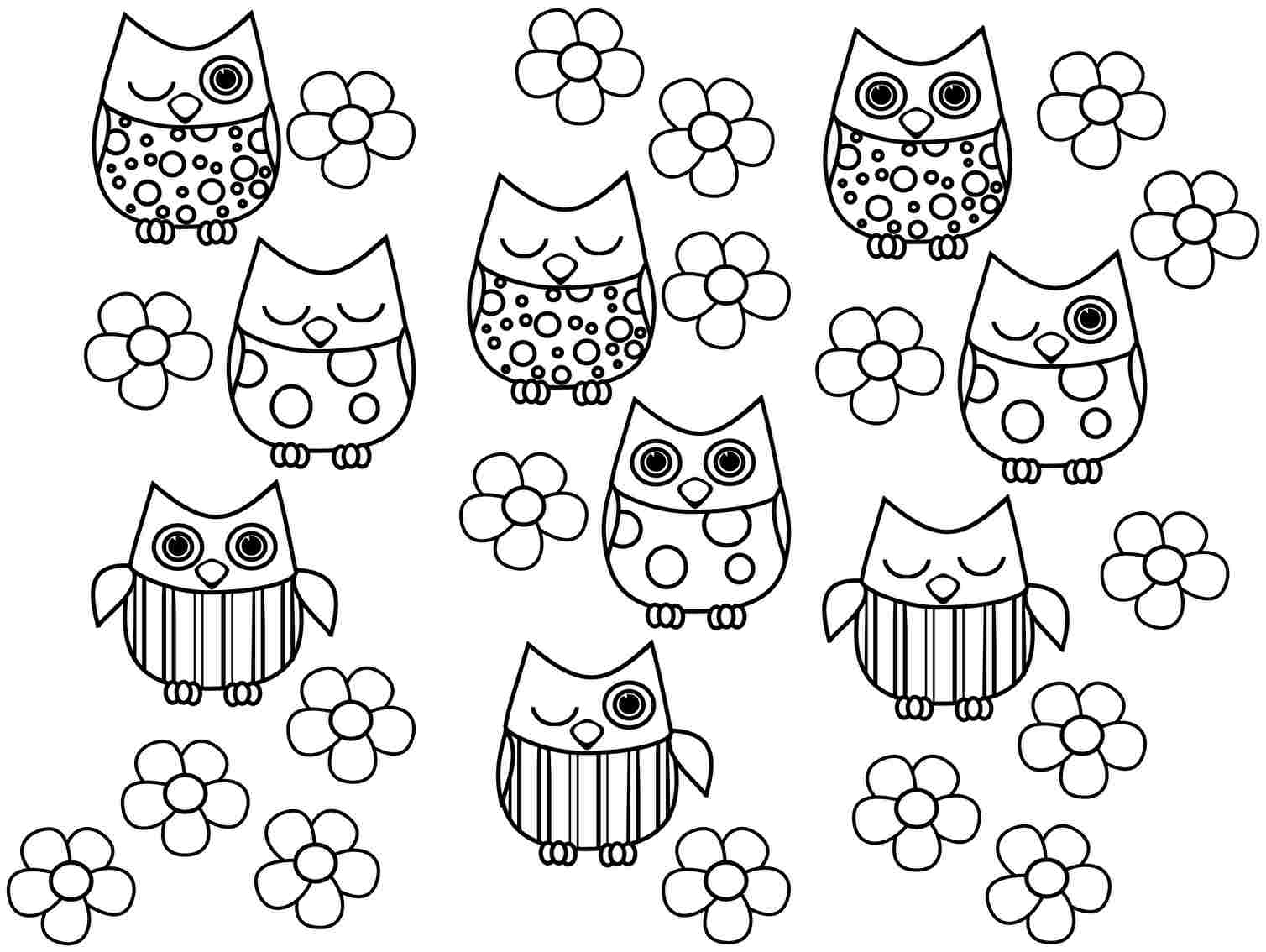 Coloring Pages Of Owls