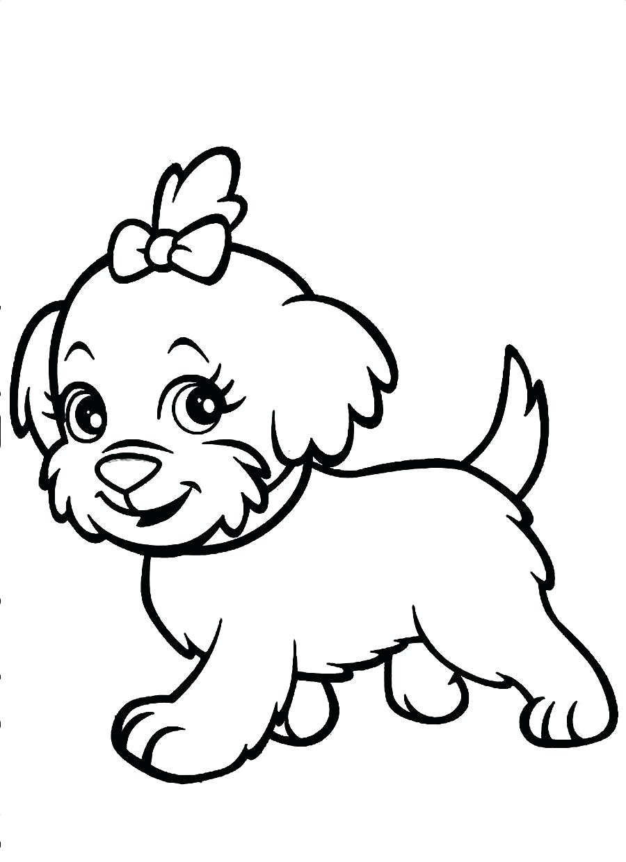 Cute Puppy Coloring Pages For Girls Free